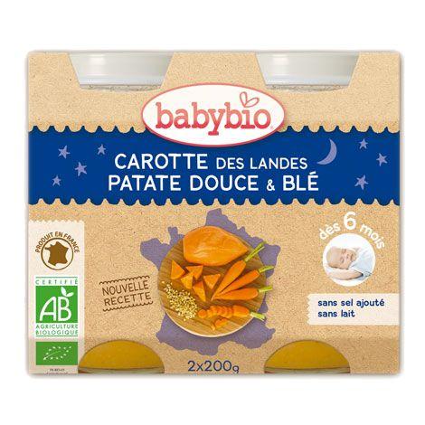 Carotte des Landes, patate douce et blé (dès 6 mois) 2 x 200 g