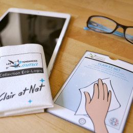 Clair et Net lingette réutilisable pour écrans