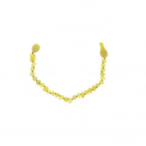 """Bracelet d'ambre enfant """" billes """" avec clip de sécurité"""