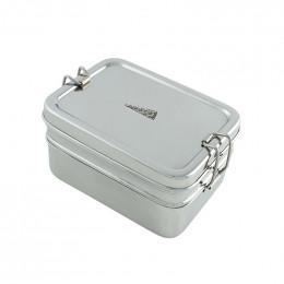 Boîte en inox avec deux étages et mini récipient - Panna - 900 ml