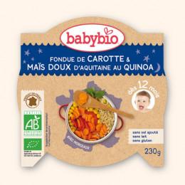 Fondue de carotte et maïs doux au quinoa (dès 12 mois) 230 g