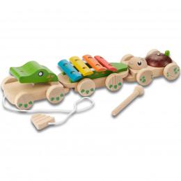 Crocodile musical à tirer - à partir de 18 mois