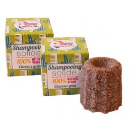 2 x Shampooing solide cheveux gras Litsée citronée 55 g