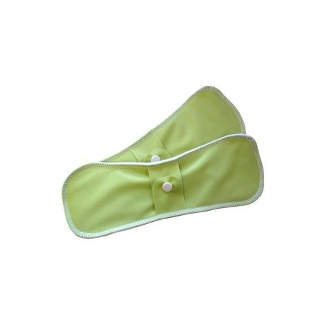 Serviettes hygiéniques lavables en coton BIO - taille super (nuit) - lot de 2