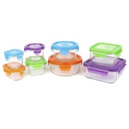 Set de 8 boîtes en verre trempée avec couvercle pour aliments