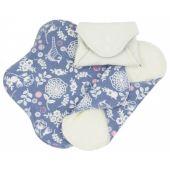 Serviettes hygiéniques lavables en coton BIO - MINI - Garden - pack de 3