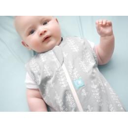 Sac de couchage Jersey Coton Bio épais - Gris Fougères 2.5 Tog / 8-24 mois