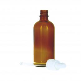 Flacon vide en verre 100 ml avec pipette doseuse en verre