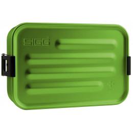 Boîte à repas en alu vert avec insert en silicone
