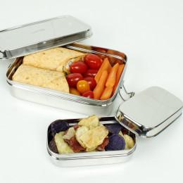 Boîte en inox rectangulaire avec mini récipient - 700 ml - Rampur
