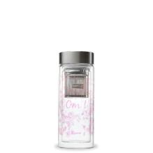 Théière nomade isotherme Zen en verre 320 ml Pourpre **
