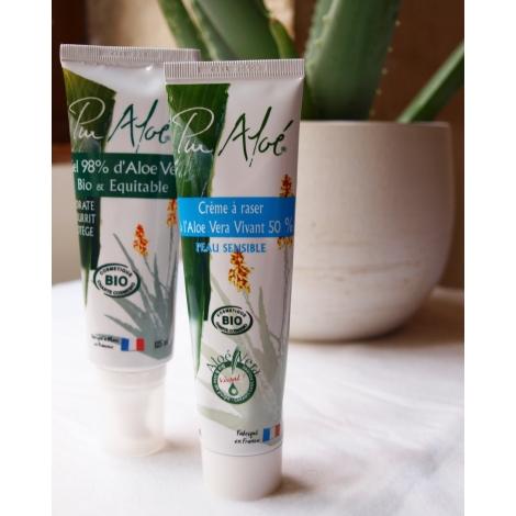 Crème à raser à l'aloe vera 50% BIO 100 ml