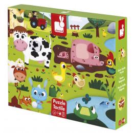 Puzzle tactile de la ferme - à partir de 3 ans