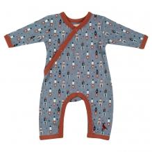 Pyjama combi longues manches coton BIO - Fusées et étoiles*