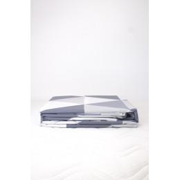 Housse de couette + 2 taies 60 x 60 cm Coton Bio Losanges gris