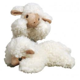 Doudou agneau en  laine - dès la naissance