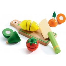 Set en bois de fruits et légumes à couper - à partir de 3 ans