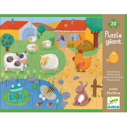 Puzzle géant 'Tactilo Ferme' - 20 pièces - à partir de 3 ans