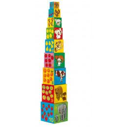 10 cubes à empiler 'Mes amis' - à partir de 1 an