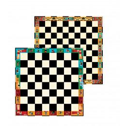 Mallette de jeux d'échecs et de dames - à partir de 6 ans