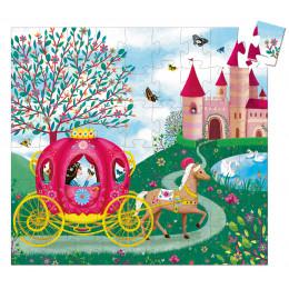 Puzzle Silhouette 'Le carrosse d'Elise' - 54 pièces - à partir de 5 ans