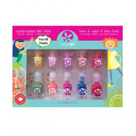 Set de 10 minis vernis à ongles pour enfant - à partir de 3 ans
