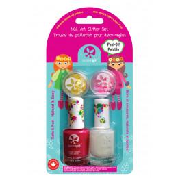 Set de 2 vernis à ongles et paillettes pour enfant - à partir de 3 ans