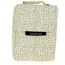 Lunch bag isotherme en coton BIO - motif Mesh