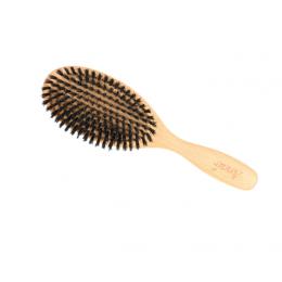 Brosse large en bois de hêtre ciré et poils de soies sanglier