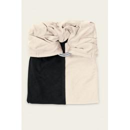 Petite écharpe sans noeud - Noir et Ecru - SANS PAD