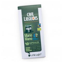 Café Bio et Faire Trade Mano Mano 10 Capsules