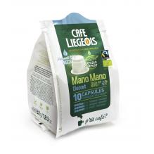 Café Bio Mano Mano Discret 10 Capsules 100 % compostables