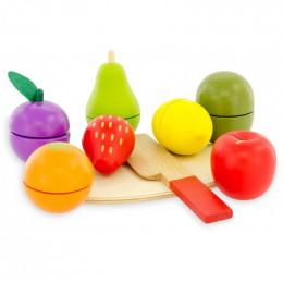Fruits à découper en cageot 9 pièces - à partir de 18 mois