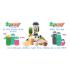 Gourde souple pliable en silicone pour boissons ou aliments 480 ml