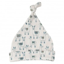 Bonnet blanc en coton BIO - Lamas