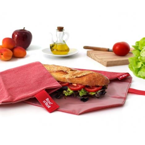 Pochette sandwich lavable et réutilisable Boc'n'Roll - Eco Red