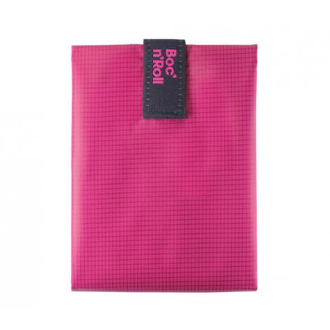 Pochette sandwich lavable et réutilisable Boc'n'Roll - Square Pink