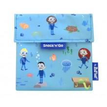 Pochette casse-croûtes lavable et réutilisable Snack'n'Go - Kid Blue