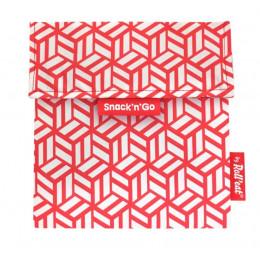 Pochette casse-croûtes lavable et réutilisable Snack'n'Go - Tiles Red