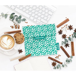 Pochette casse-croûtes lavable et réutilisable Snack'n'Go - Tiles Green