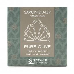 Savon d'Alep Pure Olive - Cèdre et Romarin - 100 g