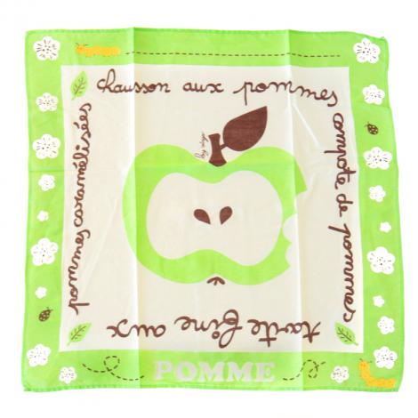 Foulard Pomme en coton Bio