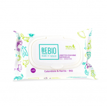 Lingettes Bio pour bébé ECO-SENSITIVE et biodégradables Calendula et Karité - Format voyage 20 unités