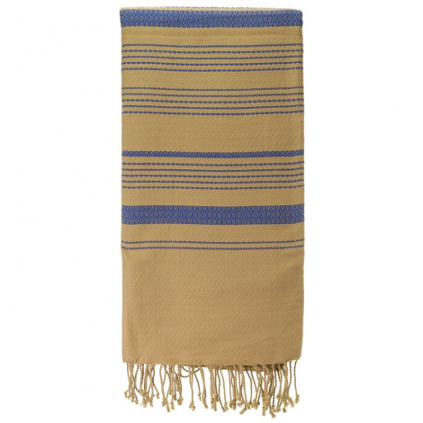 Fouta Sand en coton Bio Bleu impérial 100 x 200 cm