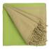 Fouta Sand en coton Bio Greenery 100 x 200 cm