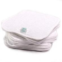25 lingettes en coton Zéro Twist - Blanc