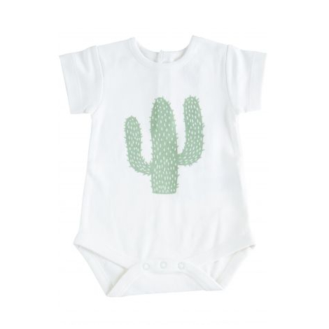 Body manches courtes en coton BIO - Cactus