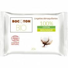 20 lingettes démaquillantes en coton Bio