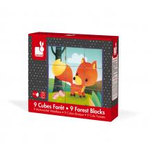 9 cubes forêt - à partir de 2 ans