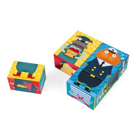 6 cubes Mix & Match à partir de 2 ans